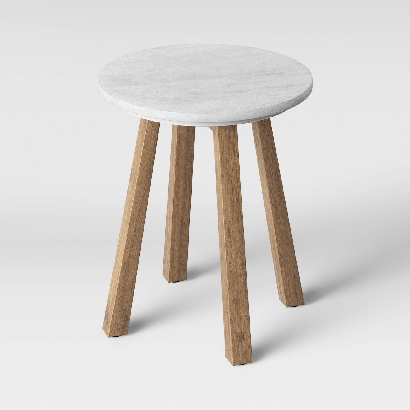 Norwich Marble Top Accent Table with Wood Base White - Threshold⢠- image 3 of 3