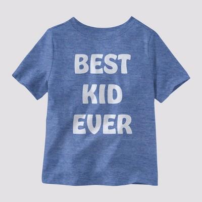 Toddler's 33 Revolutions 'Best Kid Ever' Short Sleeve Graphic T-Shirt - Heather Blue