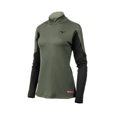 Mizuno Womens Semi Fit Long Sleeve High Neck Athletic T-shirt - Black Medium