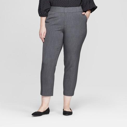 Women's Plus Size Slim Ankle Trouser Pants - Ava & Viv™ - image 1 of 2
