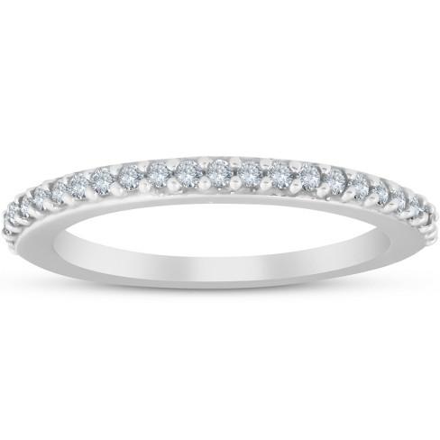 Pompeii3 1/4ct Diamond Wedding Ring 14K White Gold Anniversary - image 1 of 4
