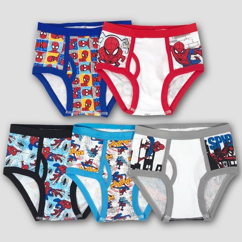 Boys' Spider-Man 5pk Assorted Briefs Underwear - image 1 of 4