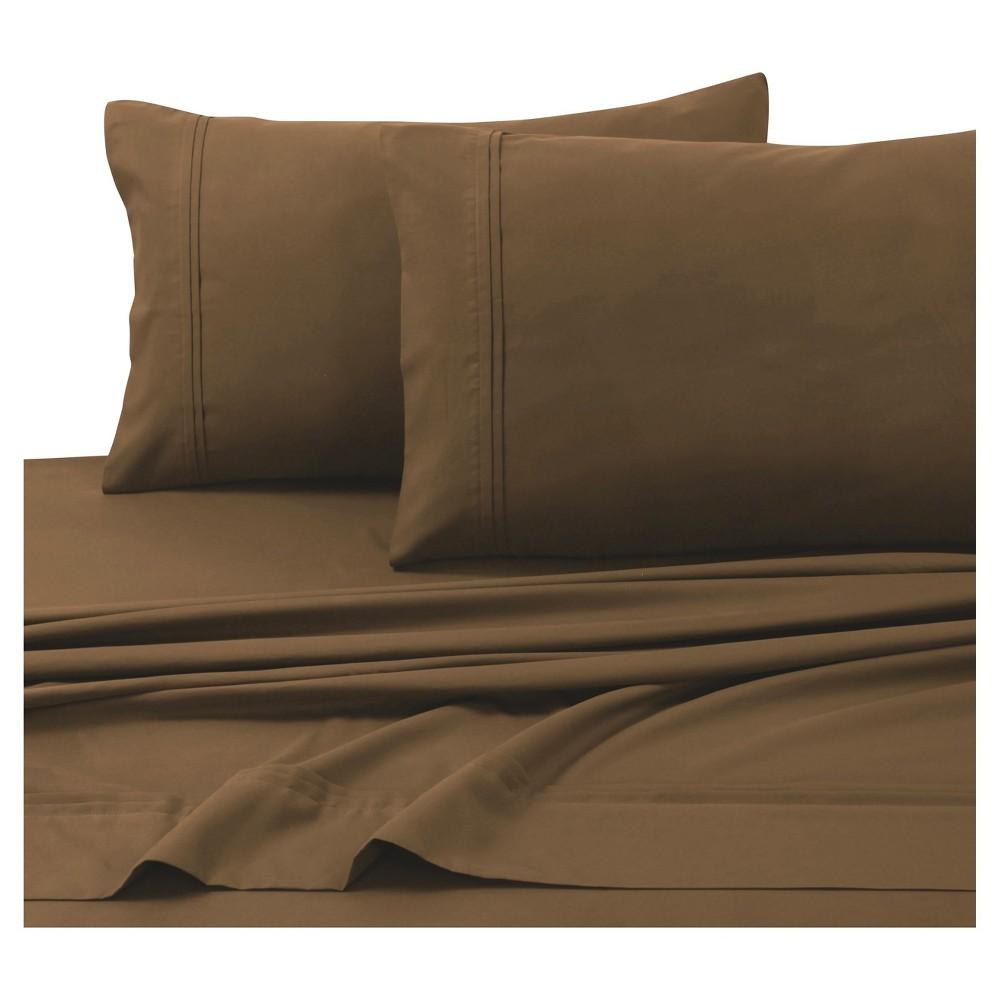 Microfiber Solid Deep Pocket Sheet Set (California King) Chocolate (Brown) 110 Gsm - Tribeca Living