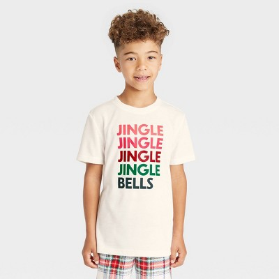 Kids' Holiday 'Jingle Bells' Matching Family Pajama T-Shirt - Wondershop™ White