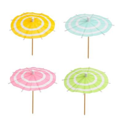 50ct Striped Drink Umbrella - Spritz™