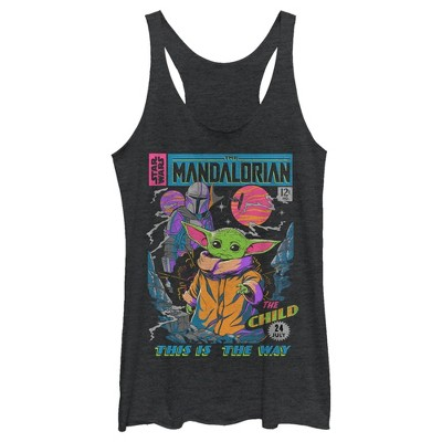 Women's Star Wars The Mandalorian 12 Cents Retro Comic Racerback Tank Top