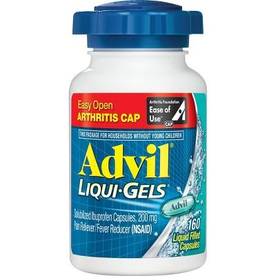 Advil Easy Open Cap Pain Reliever/Fever Reducer Capsules - Ibuprofen (NSAID) - 160ct