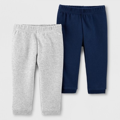 Little Planet Organic by carter's Baby Boys' 2pk Jogger Pants - Blue/Gray Newborn