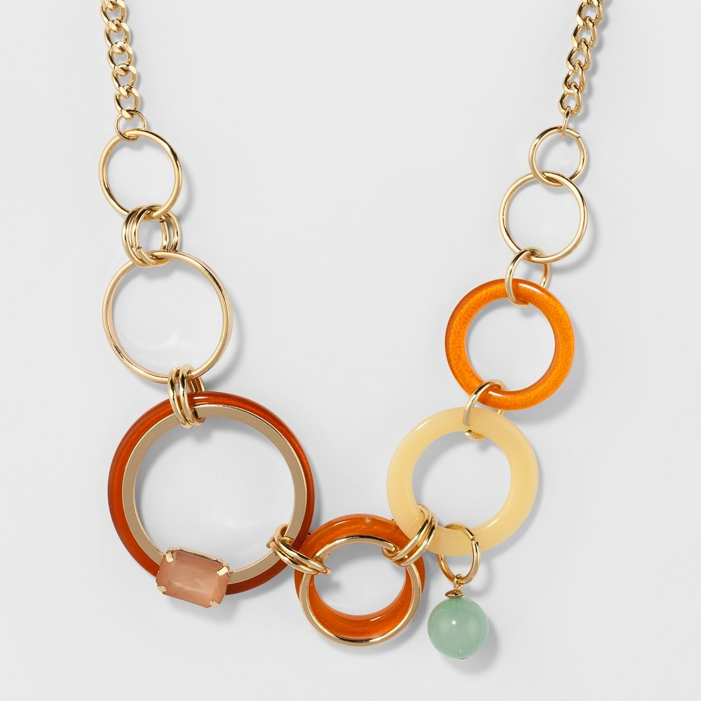 Flat Circles Short Necklace - A New Day, Multi-Colored