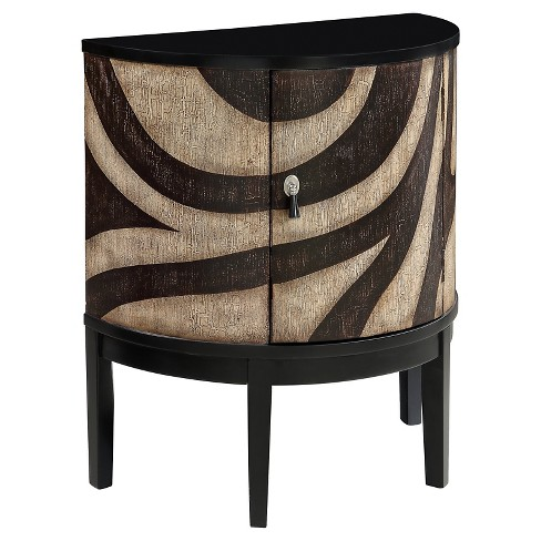 Storage Cabinet One Door Demilune Animal Print - Christopher Knight Home - image 1 of 2