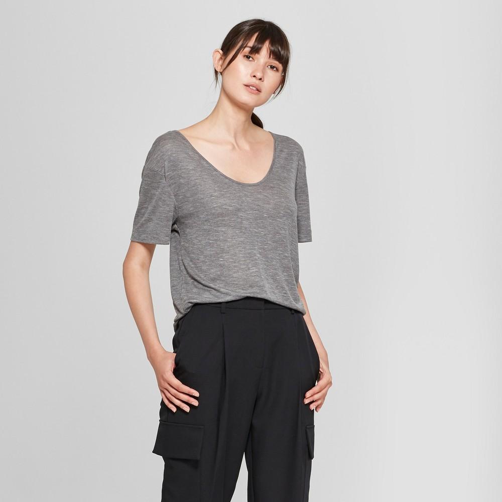 Women's Short Sleeve Drapey T-Shirt - Prologue Gray XS, Heather Gray
