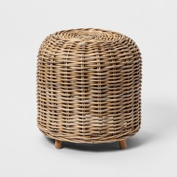 "17"" x 17"" Kooboo Rattan Stool - Natural - Smith & Hawken™"