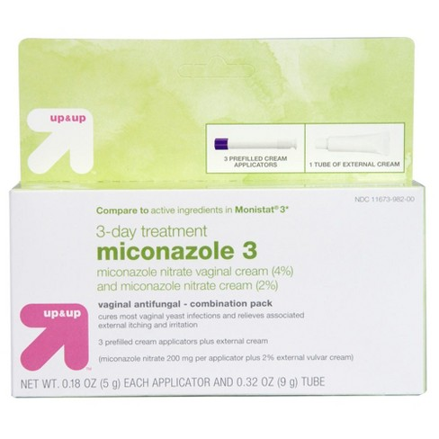 Miconazole 3 Day Treatment Combo Pack- Up&Up™ (Compare to active ingredients in Monistat 3) - image 1 of 4