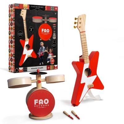 FAO Schwarz Toy Wood Rockstar 2pk