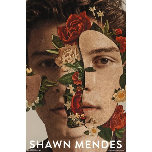 """34""""x23"""" Shawn Mendes Floral Unframed Wall Poster Print - Trends International - image 1 of 2"""