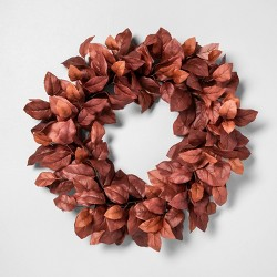 "24"" Faux Rust Aspen Leaves Wreath - Hearth & Hand™ with Magnolia"