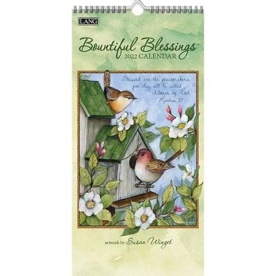 "2022 Vertical Wall Calendar 7.75""x15.5"" Bountiful Blessings - Lang"