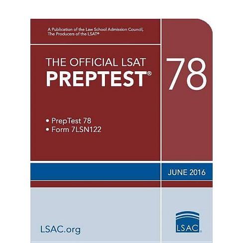 The Official LSAT Preptest 78 - (Official LSAT PrepTest) by  Law School Council (Paperback) - image 1 of 1
