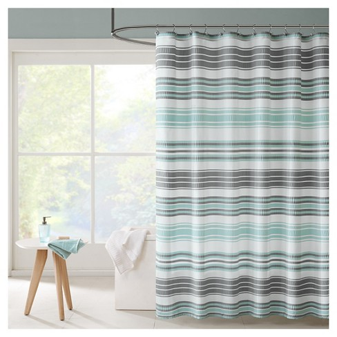 Raquel Stripes Puckering Stripe Shower Curtain - image 1 of 1