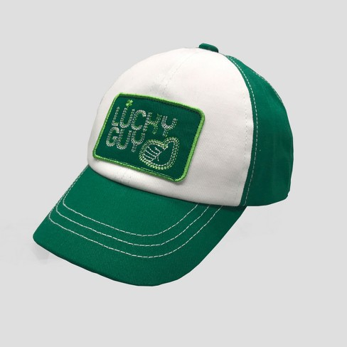 Baby Boys' St. Patrick's Day Baseball Hat - Cat & Jack™ Green 12-24M - image 1 of 2