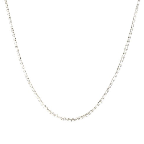 "Silver Box Chain Necklace 16"" - image 1 of 1"