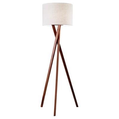 "63"" Brooklyn Floor Lamp Walnut - Adesso"