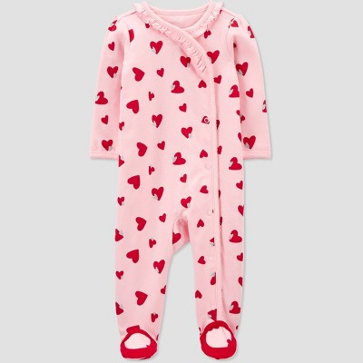 Baby Girls' Valentine's Heart Sleep N' Play - Just One You® made by carter's Pink 3M