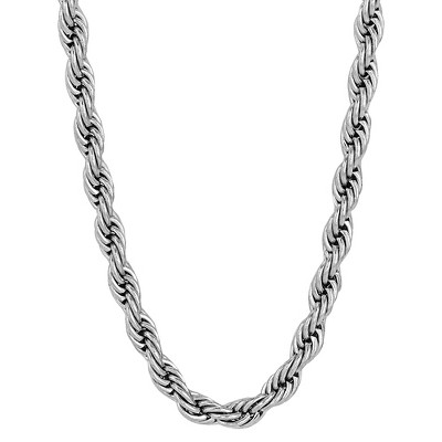 "Men's Stainless Steel Rope Chain (30"")"