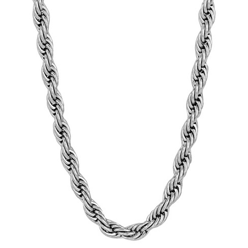 "Men's Stainless Steel Rope Chain (30"") - image 1 of 3"
