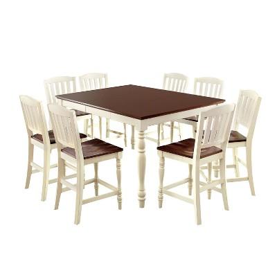 sun pine 9pc cottage style counter dining table set wood vintage rh target com