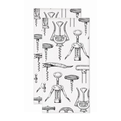 2pk Corkscrew Print Kitchen Towel - MU Kitchen