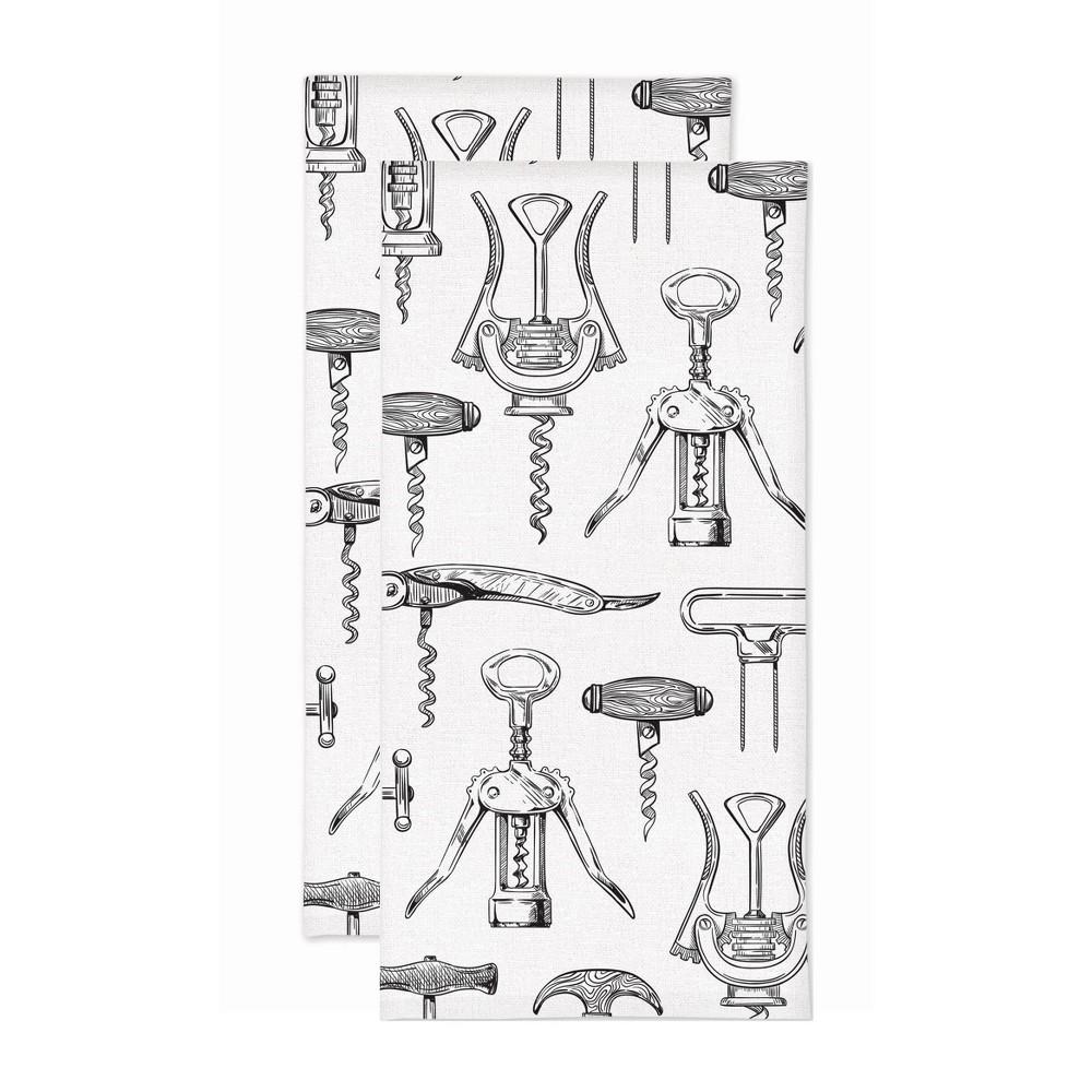 Reviews 2pk Corkscrew Print Kitchen Towel - MU Kitchen
