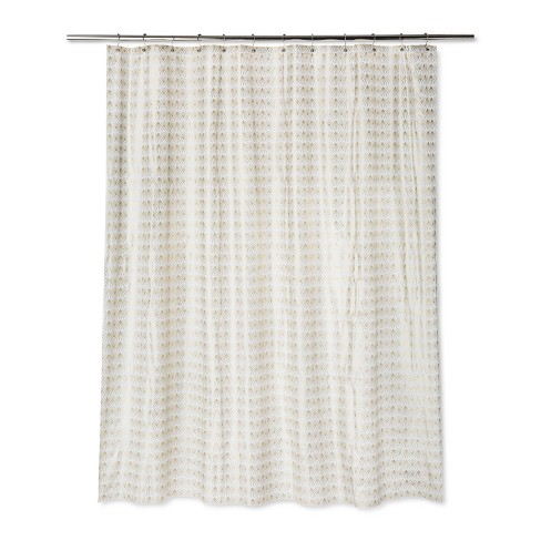 Fans Shower Curtain Gold Fusion