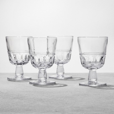 4pk Glass Goblet Clear - Hearth & Hand™ with Magnolia