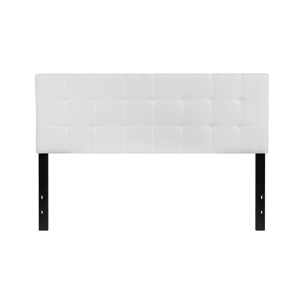 Queen Quilted Tufted Upholstered Headboard White - Riverstone Furniture