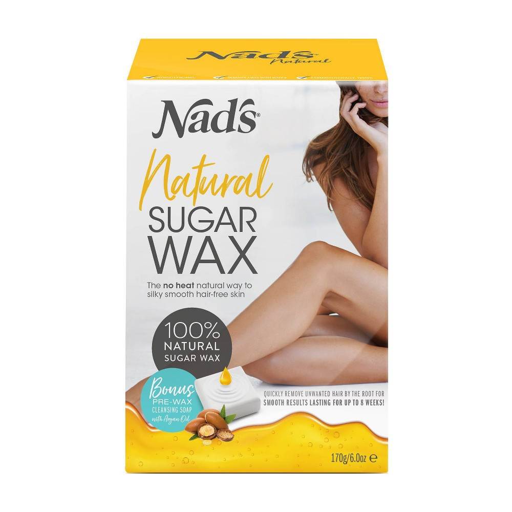 NAD\\\'s Natural Sugar Wax Kit. This effective and natural sugar wax makes waxing at home effortless with salon quality results of up to 8 weeks. The natural formula is ideal for all skin types and is water soluable for easy application.