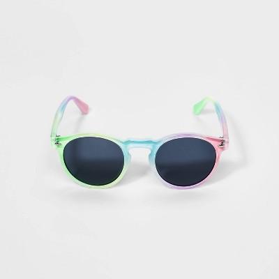 Girls' Rainbow Round Sunglasses - Cat & Jack™ Black