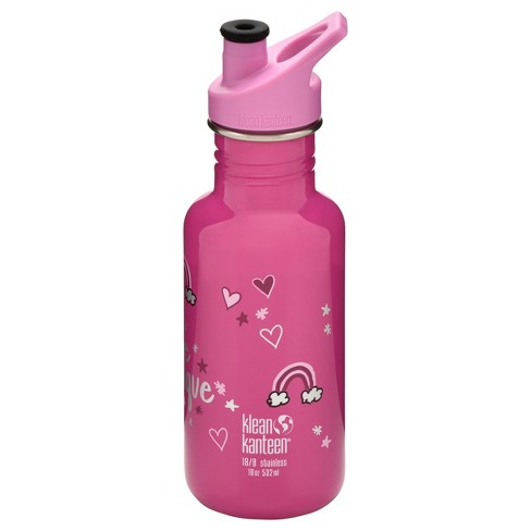 34c70656be65 Klean Kanteen Classic 18oz Stainless Water Bottle -Unicorn -Pink ...