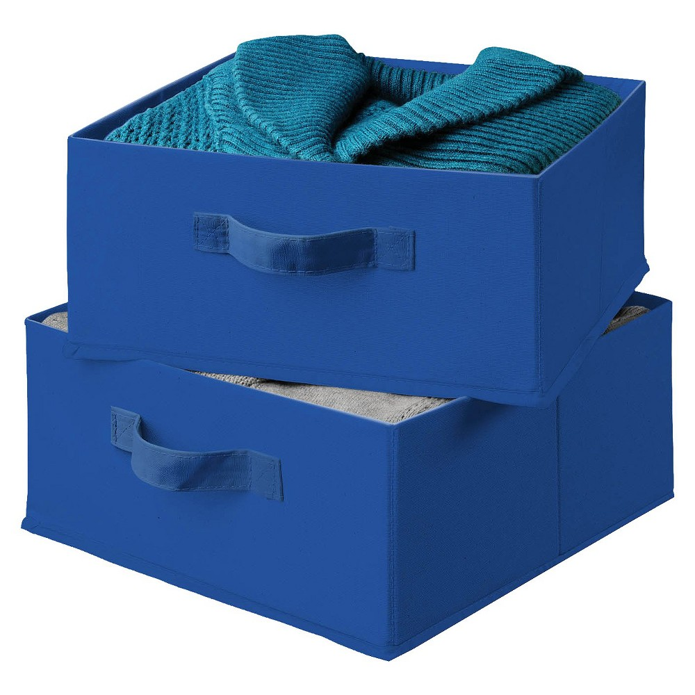 Image of 2pk Decorative Bin Drawer Organizer Blue - Honey-Can-Do