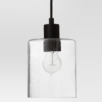 Hudson Industrial Pendant Ceiling Light Black Includes Energy Efficient Light Bulb - Threshold™