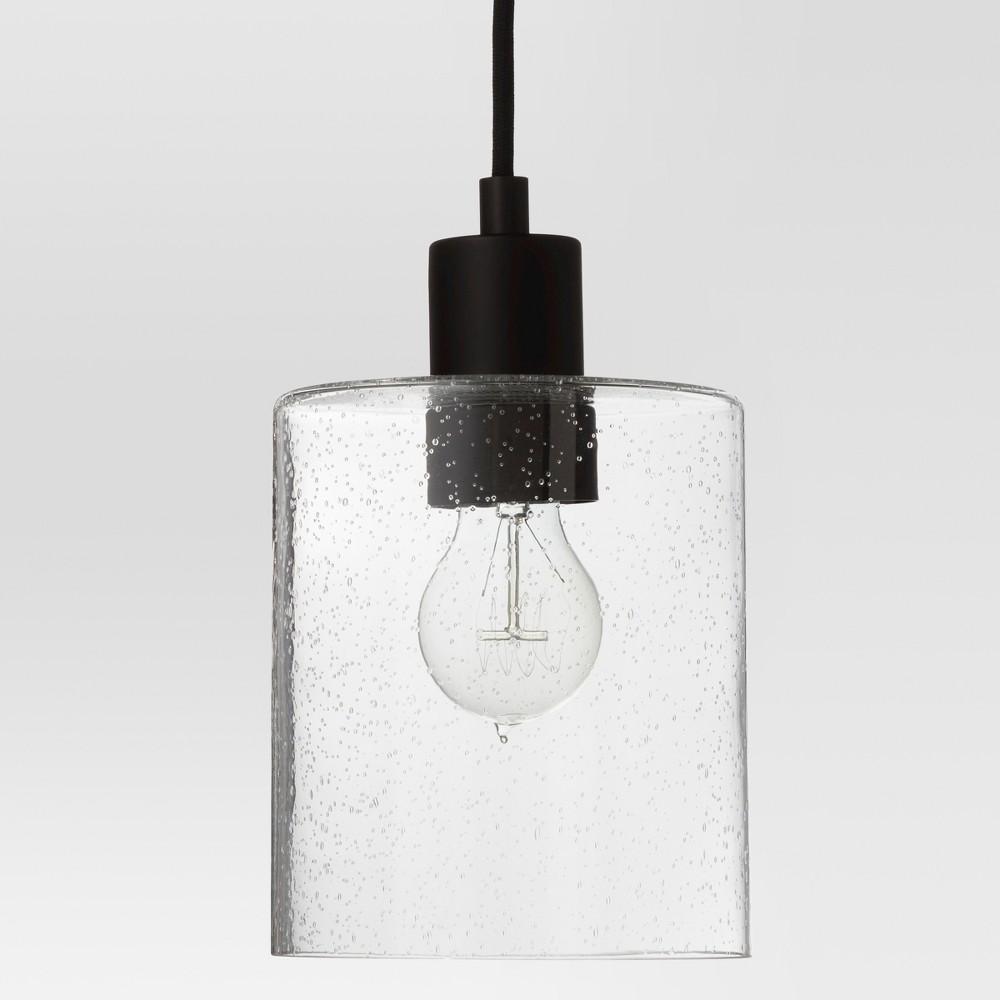 Hudson Industrial Pendant Ceiling Light Black Includes Energy Efficient Light Bulb - Threshold