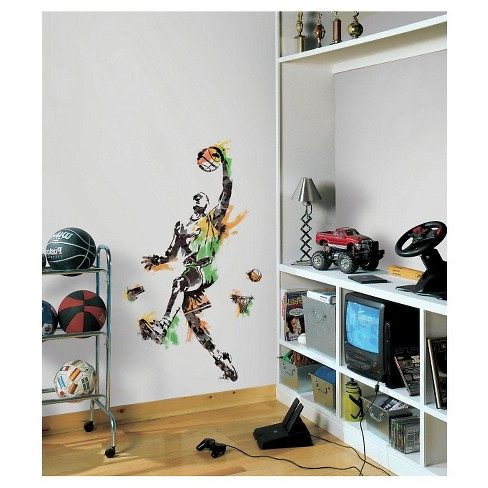 RoomMates Men's Basketball Champion Peel and Stick Giant Wall Decals - image 1 of 1