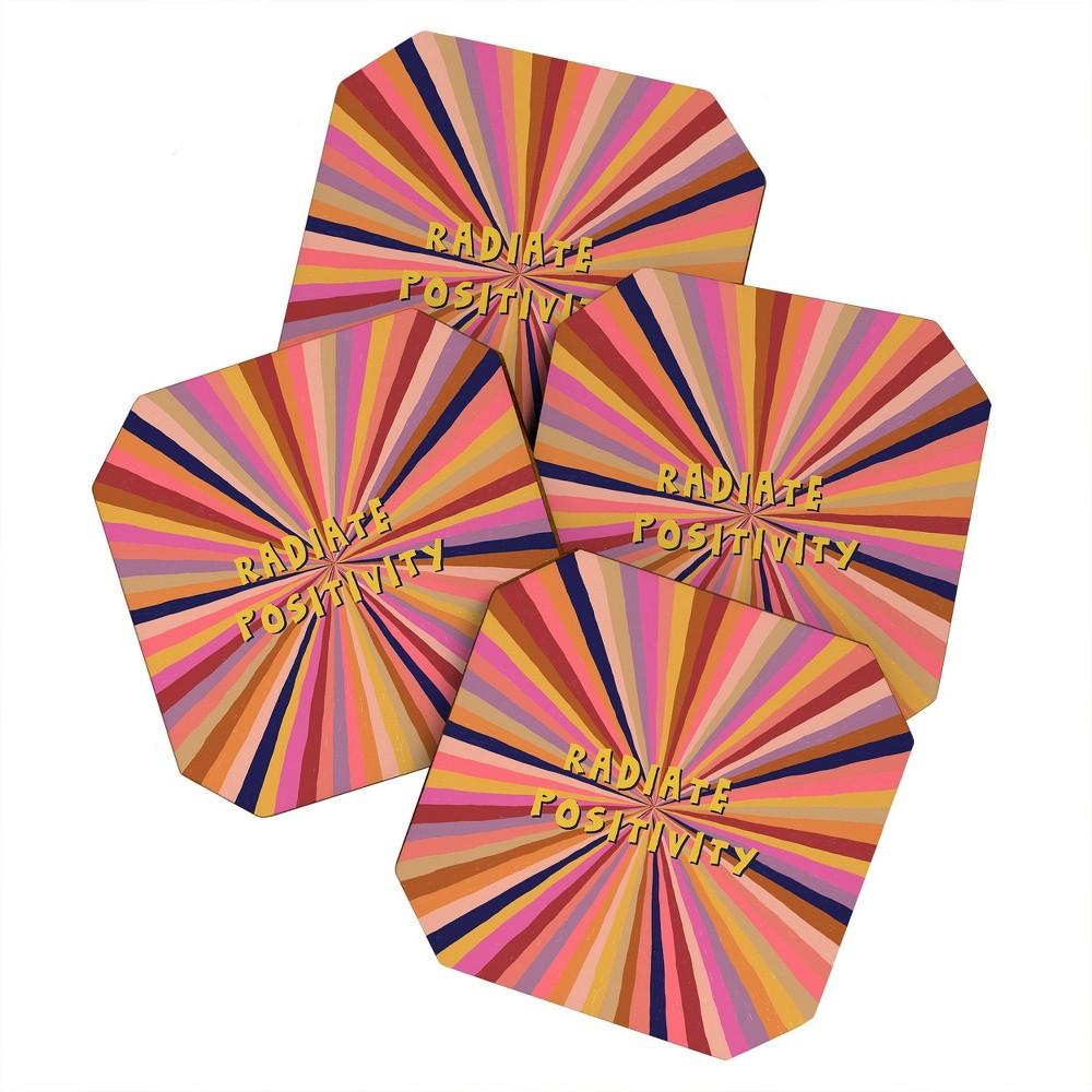 4pk Alisa Galitsyna Radiate Positivity Coasters Society6