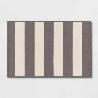 2'x3' Indoor/Outdoor Reversible Rug Gray - Threshold™