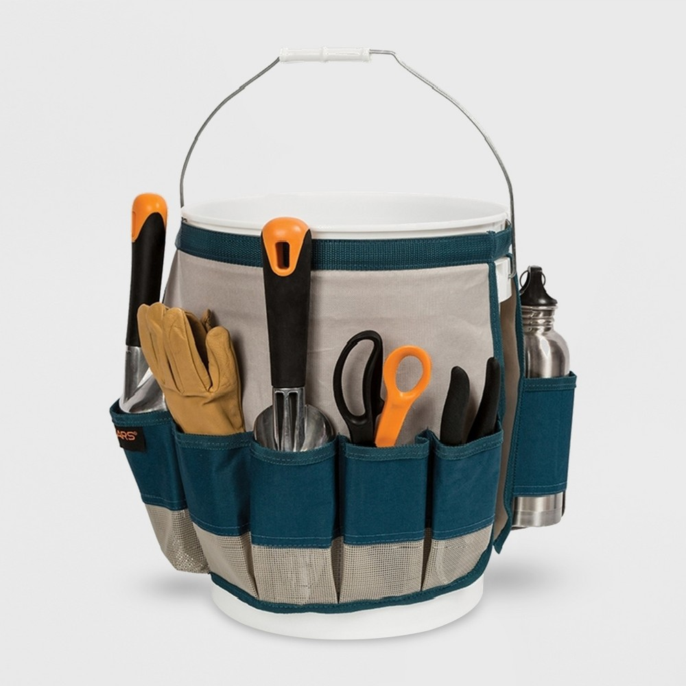 Image of Fiskars Carry & Organize Bucket Tool Green