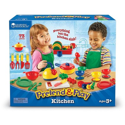 Learning Resources Pretend and Play Kitchen Set, Ages 3+