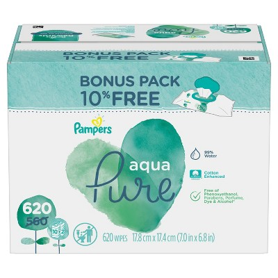 Pampers Aqua Pure 10X - 620ct