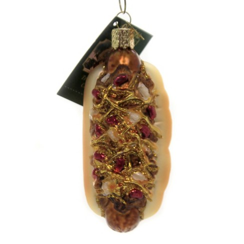 """Old World Christmas 4.0"""" Chili Cheese Dog Ornament Coney  -  Tree Ornaments - image 1 of 3"""