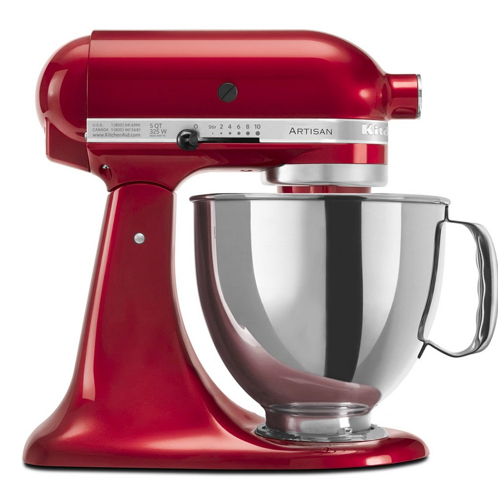 KitchenAid Refurbished Artisan Series 5qt Stand Mixer – Candy Apple Red RRK150CA, Candied Apple 53499016