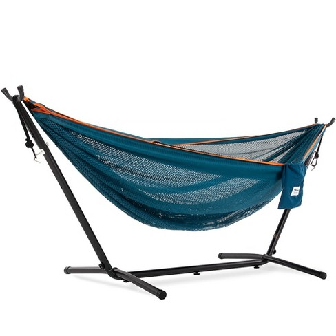 Vivere 9ft Polyester Mesh Double Hammock and Stand - image 1 of 4